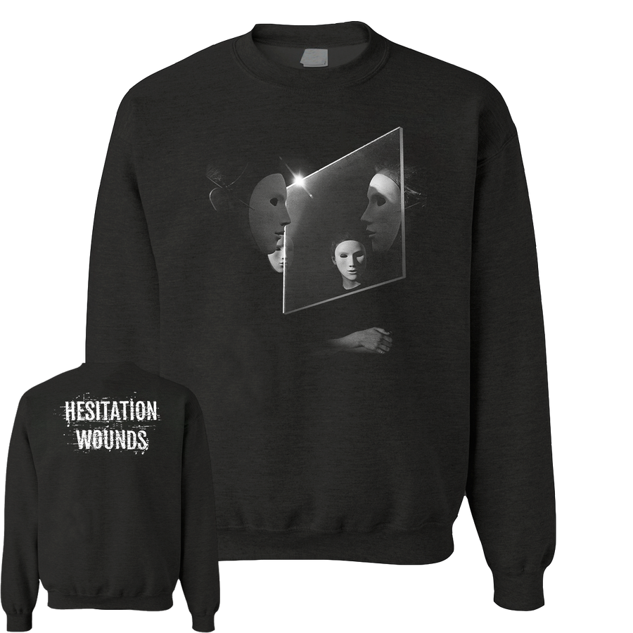 "Hesitation Wounds ""Chicanery"" Black Crew Neck Sweatshirt"