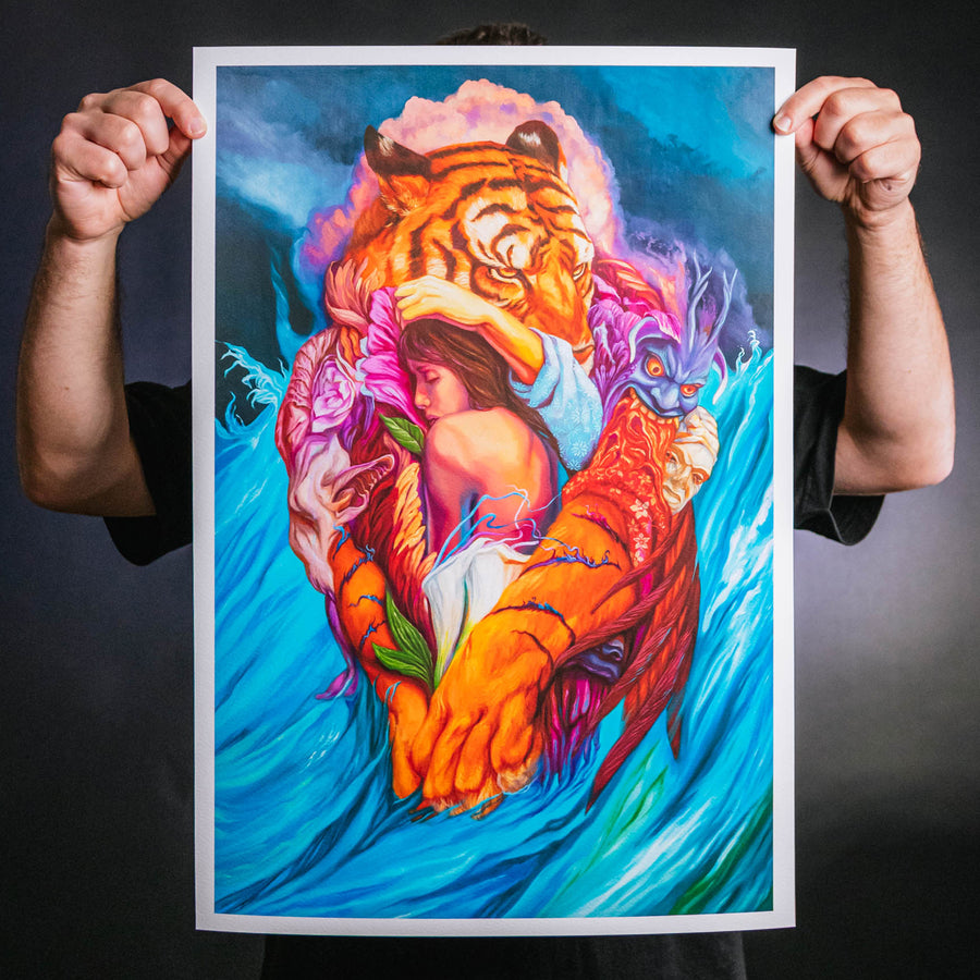 "Paul Romano ""I Will Hold You Until Better Times"" Giclee Print"