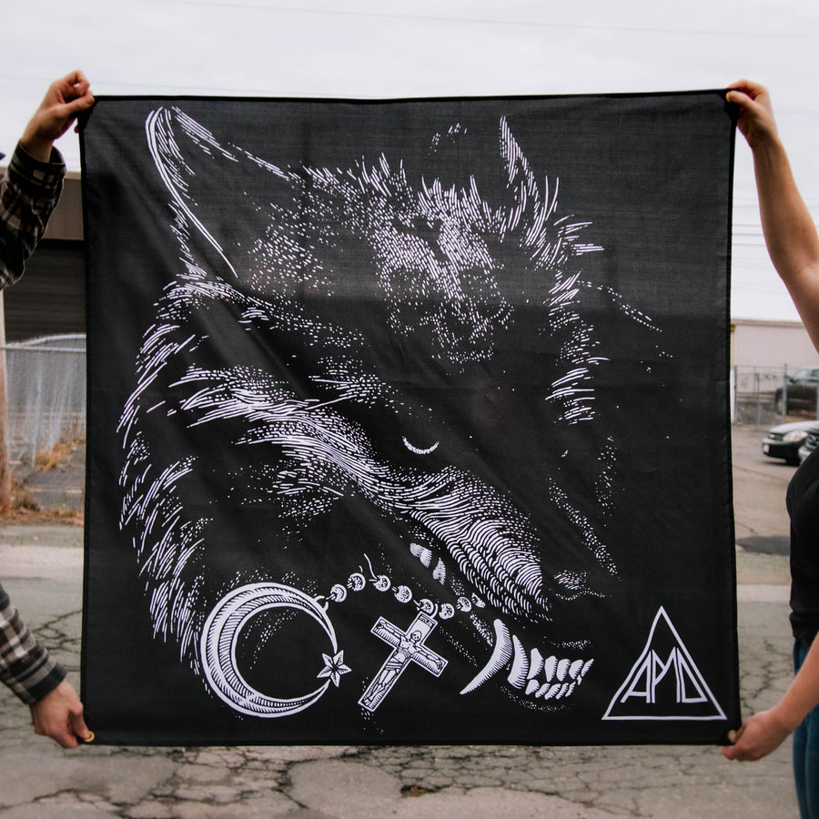 "All Pigs Must Die ""Wolf"" Banner"