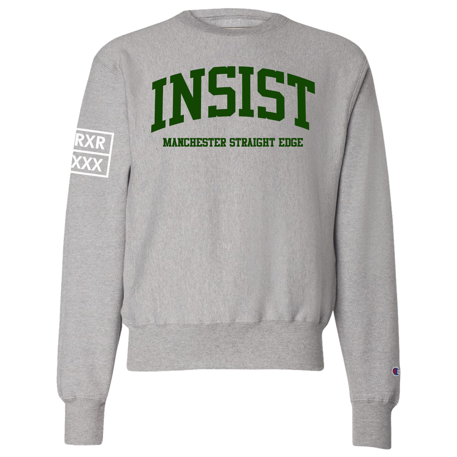 "Insist ""Here & Now"" Heather Grey Crew Neck Sweatshirt"