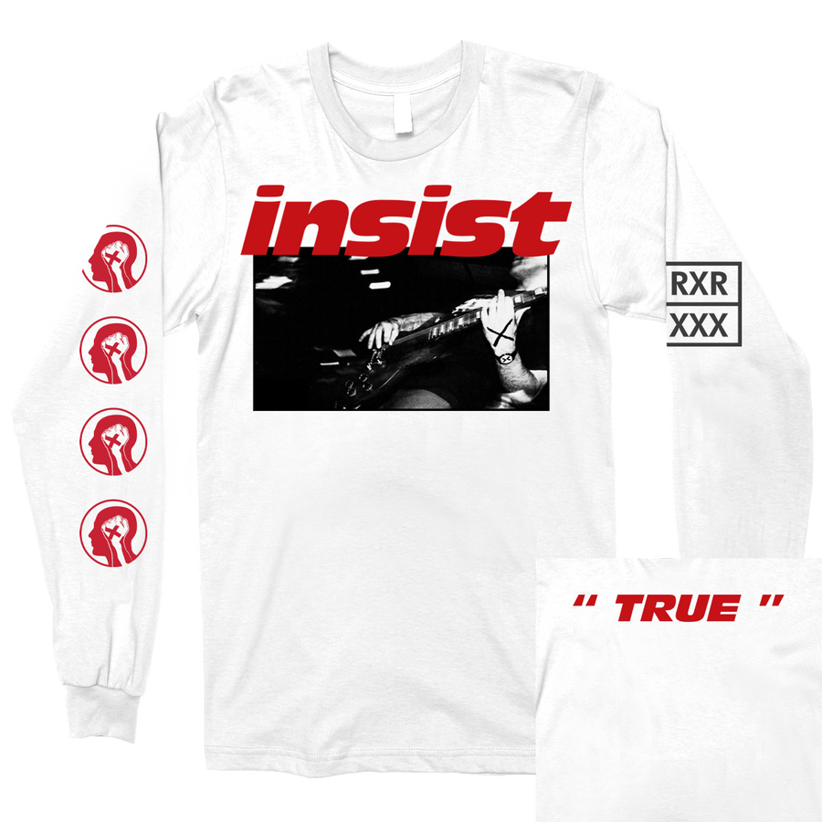 "Insist ""Here & Now"" White Longsleeve"