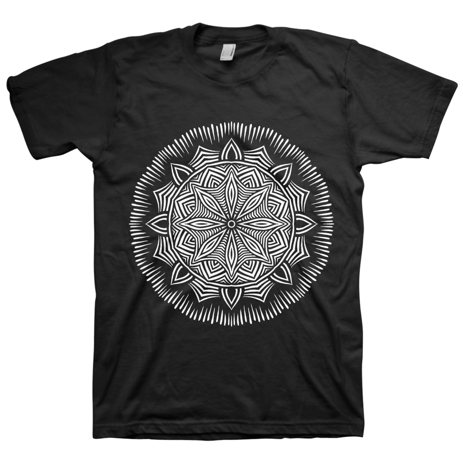 "Thomas Hooper ""Lotus Mandala"" Black T-Shirt"