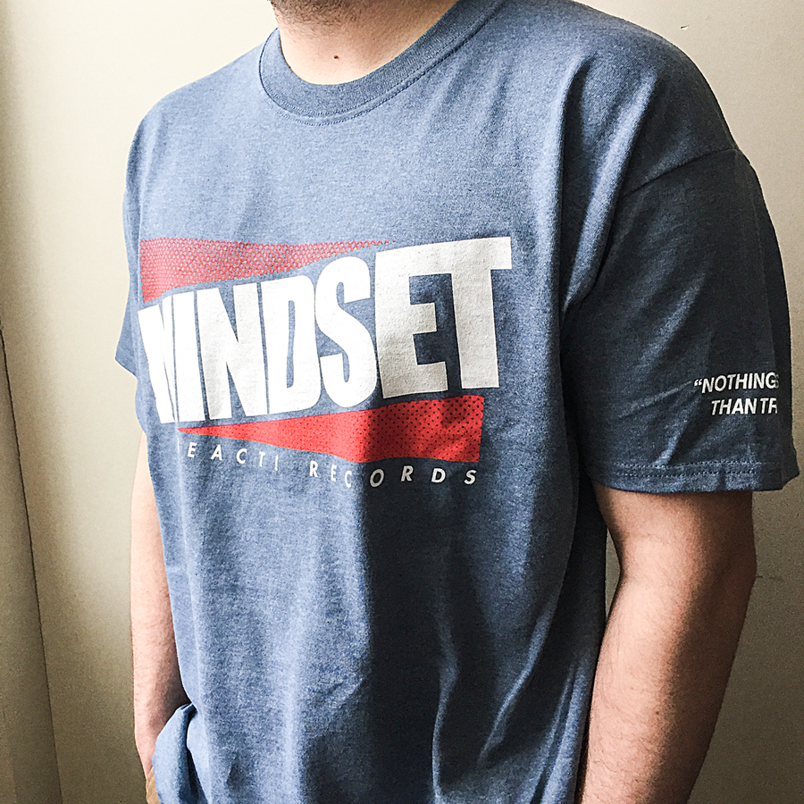 "Mindset ""Nothing Less Than True"" Heather Indigo T-Shirt"