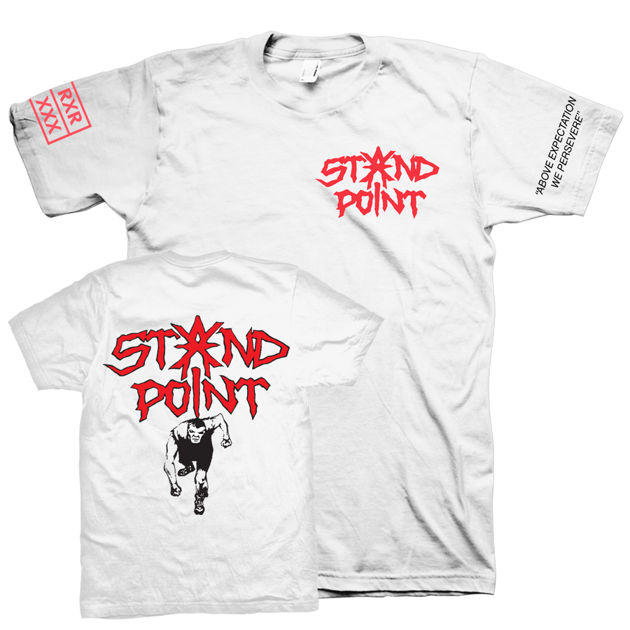 "Standpoint ""Above Expectation"" White T-Shirt"