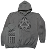 "Thomas Hooper ""Ashes And Diamonds"" Grey Hooded Sweatshirt"