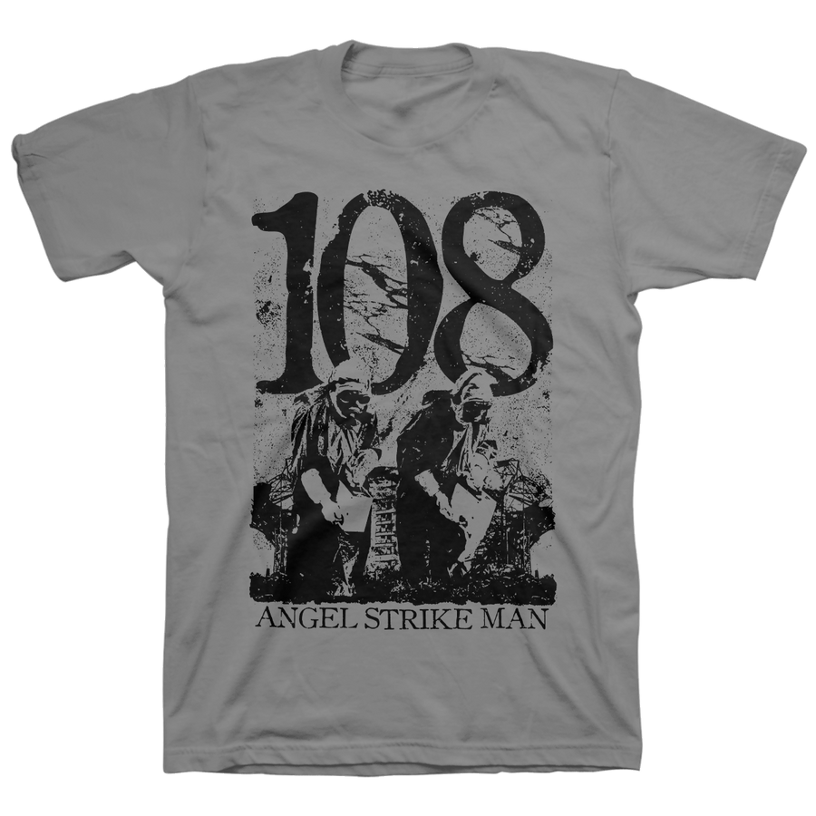 "108 ""Angel Strike Man"" Grey T-Shirt"