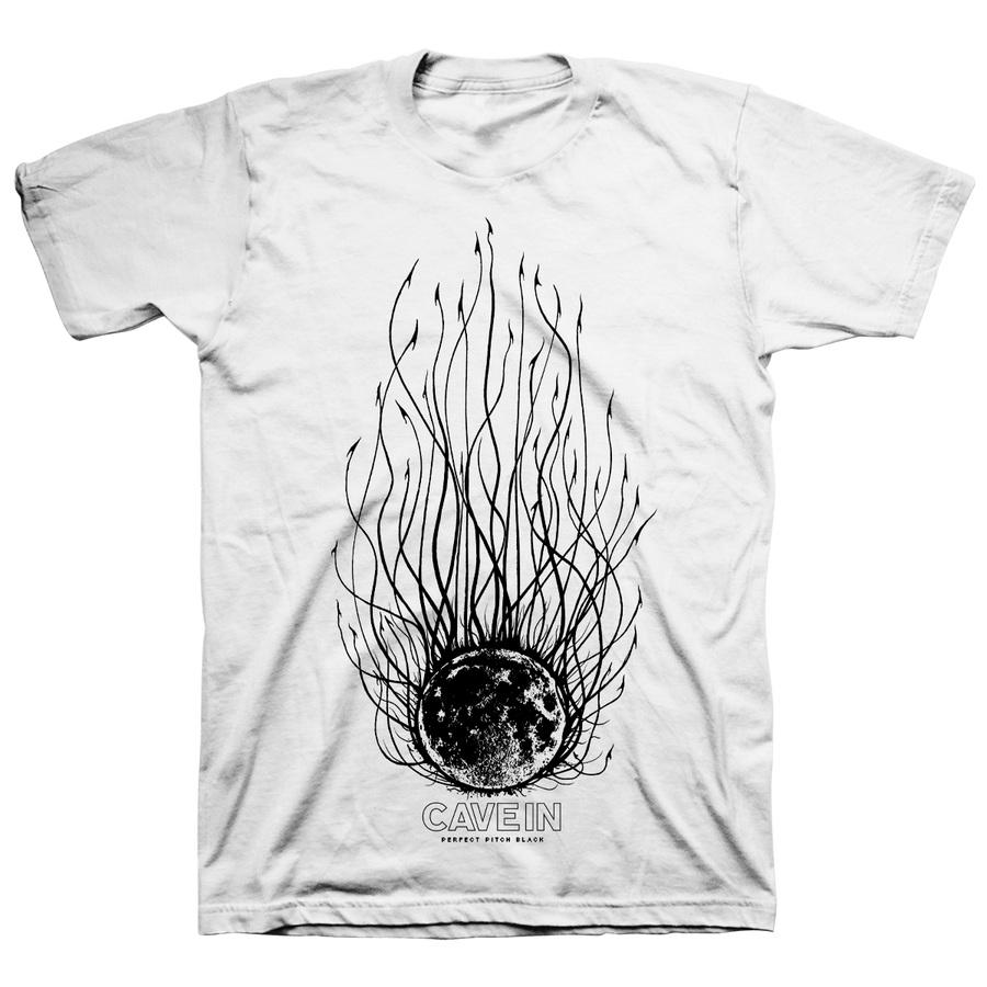 "Cave In ""Perfect Pitch Black: Evil Moon"" White T-Shirt"