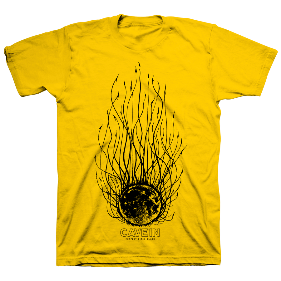 "Cave In ""Perfect Pitch Black: Evil Moon"" Yellow T-Shirt"