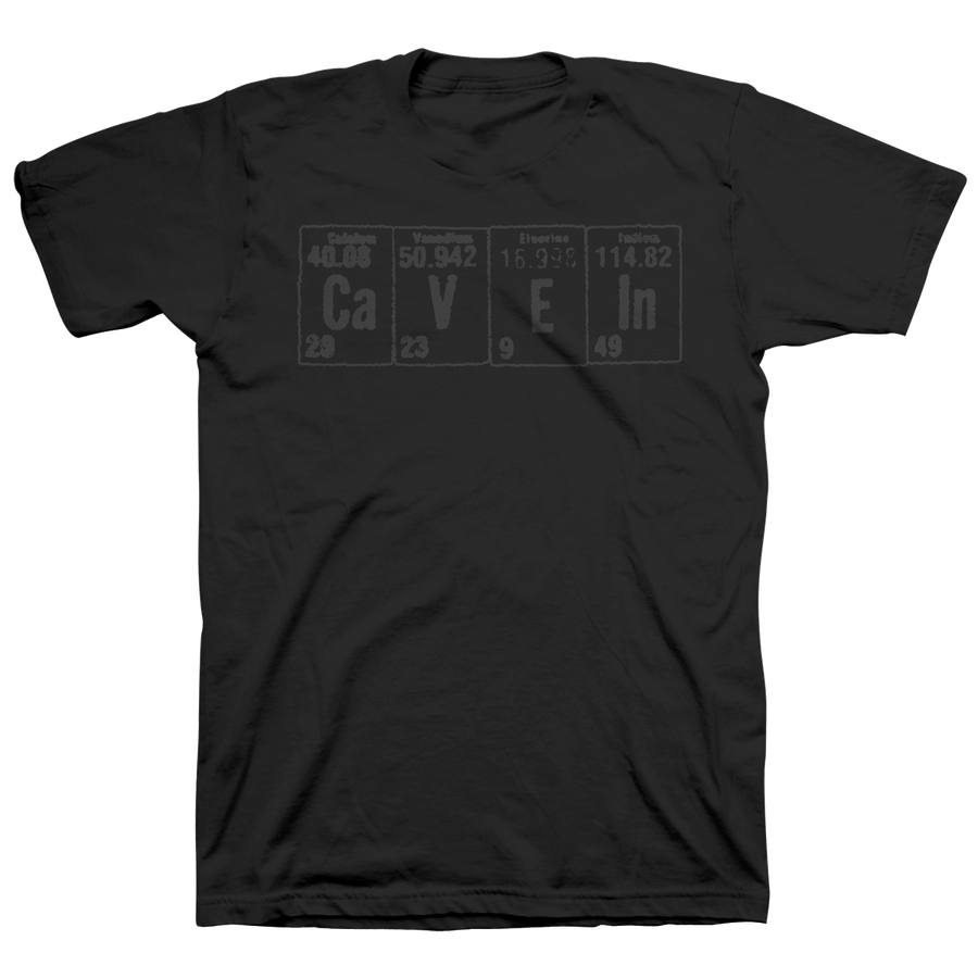 "Cave In ""Elements: Grey"" Black T-Shirt"