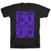 "Cave In ""Elements (Stacked) Purple"" Black T-Shirt"