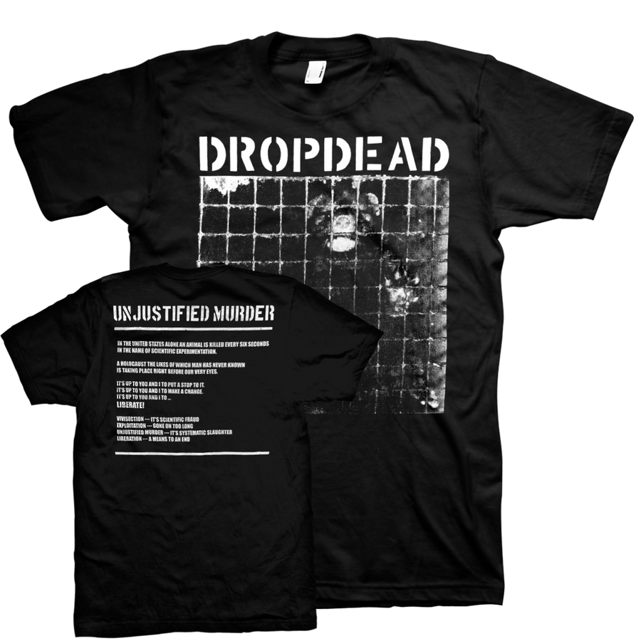 "Dropdead ""Unjustified Murder"" Black T-Shirt"