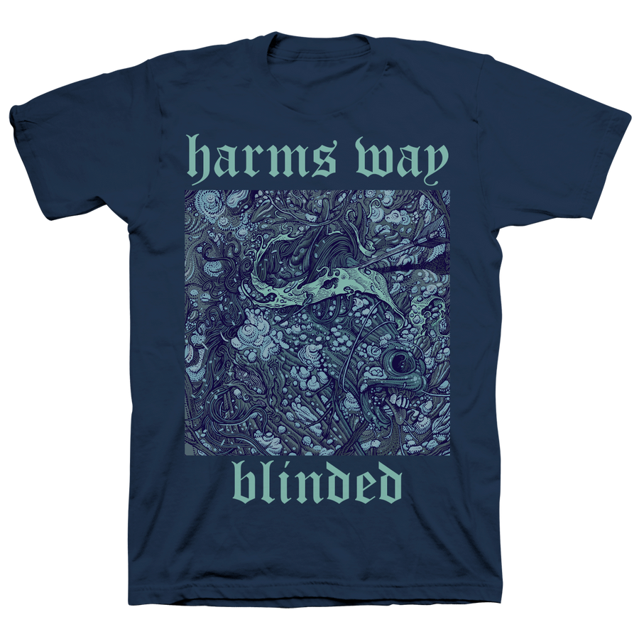 "Harm's Way ""Blinded"" Navy T-Shirt"