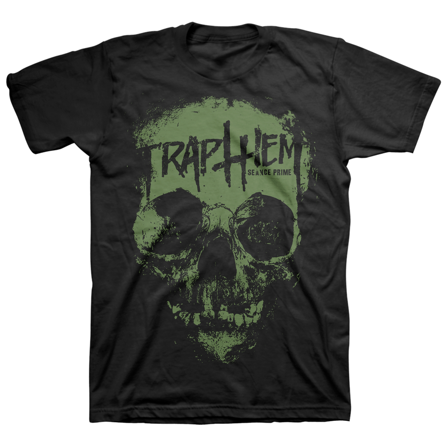 "Trap Them ""Seance Prime: Green"" Black T-Shirt"