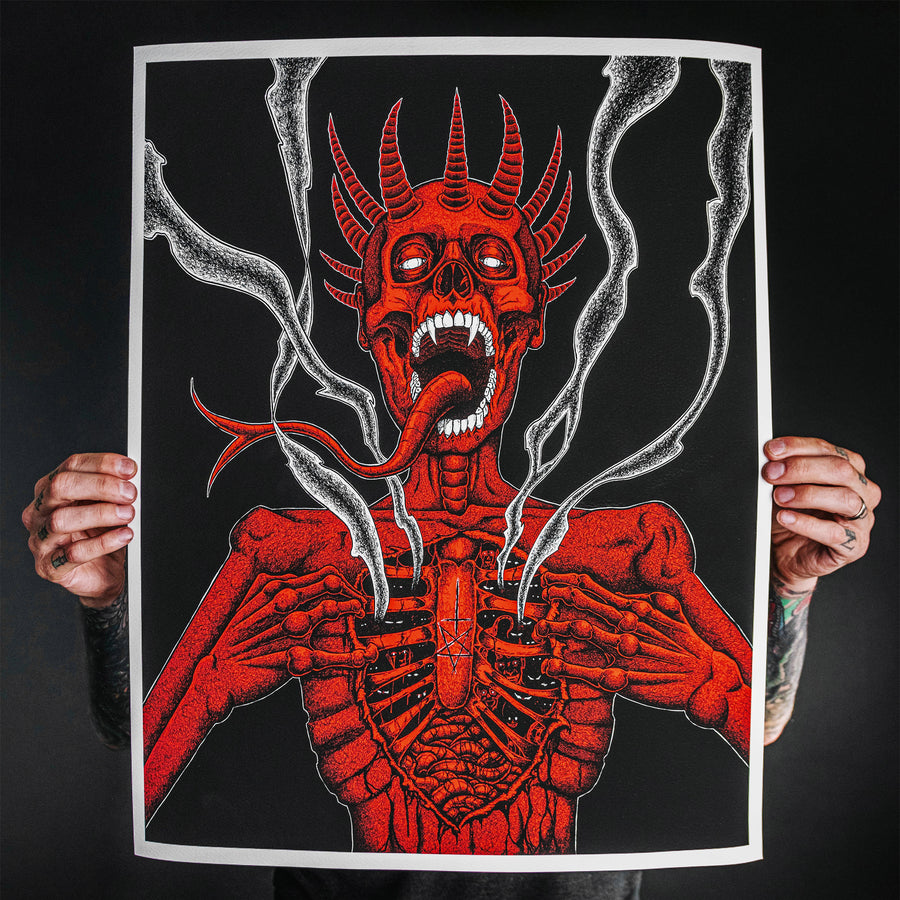 "Abominable Electronics ""Demon Lung"" Giclee Print"