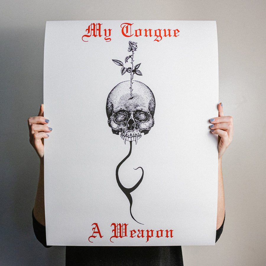 "Anthony Lucero ""My Tongue A Weapon"" Giclee Print"