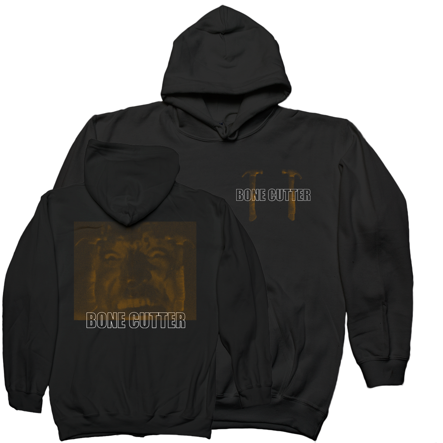 "Bone Cutter ""Hammer"" Black Hooded Sweatshirt"