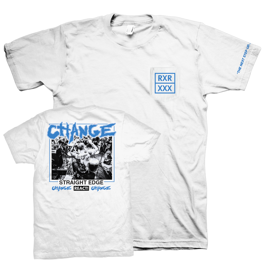 "Change ""Straight Edge"" White T-Shirt"