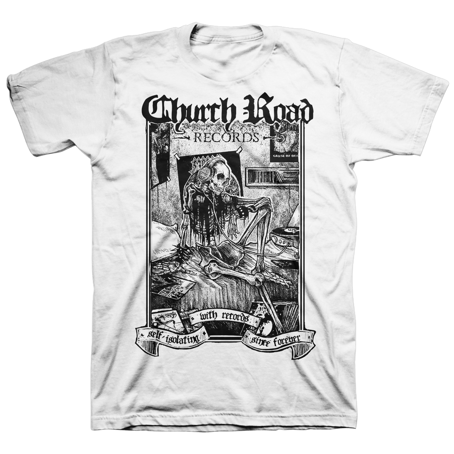 "Church Road ""Logo Black"" White T-Shirt"
