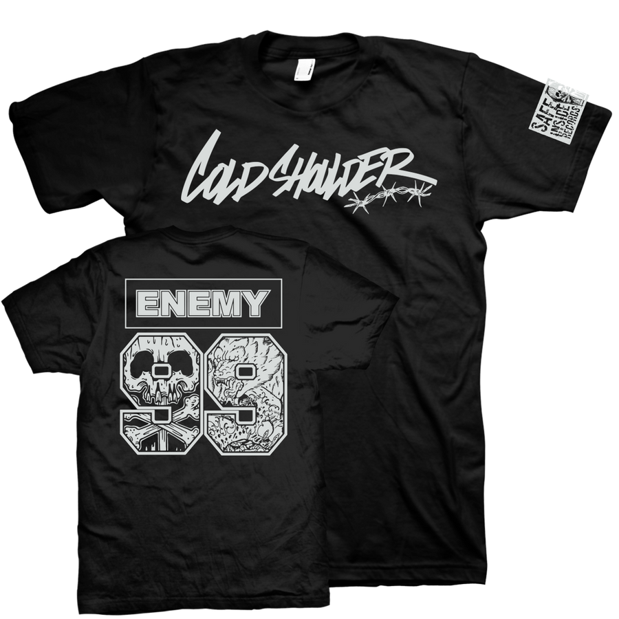 "Cold Shoulder ""Enemy"" Black T-Shirt"