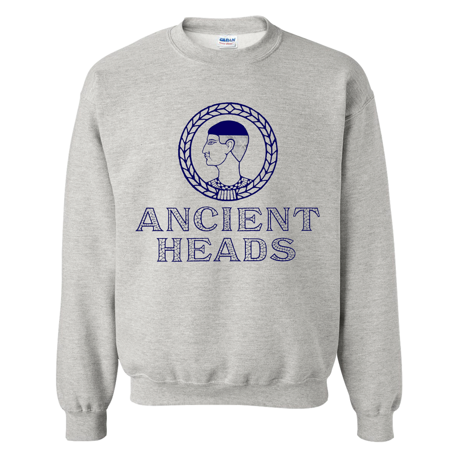 "Ancient Heads ""Ancient"" Grey Crew Neck"