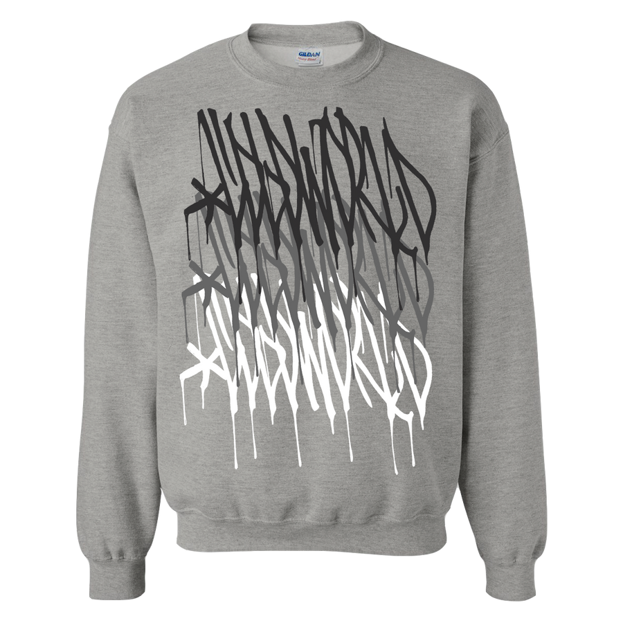 "Cold World ""Logo Repeat"" Grey Crew Neck Sweatshirt"