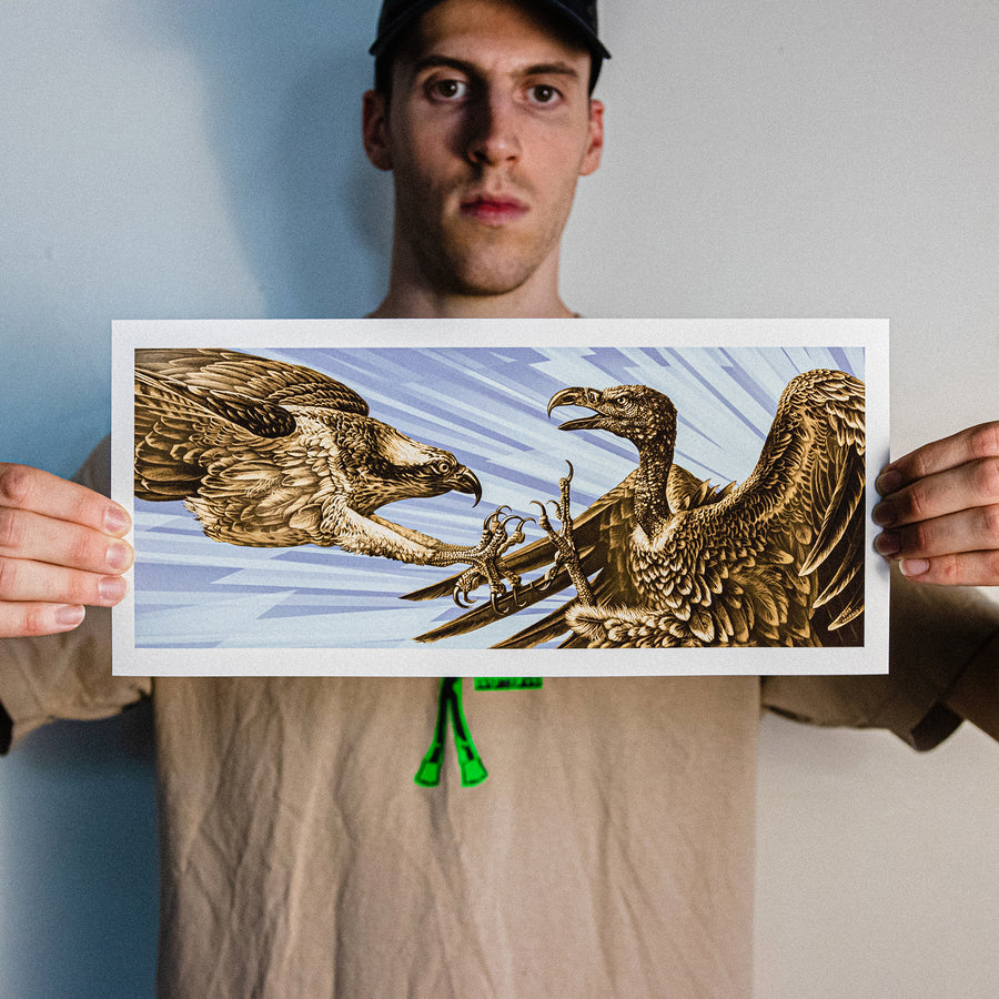 "Marald Van Haasteren ""Eagles Become Vultures"" Color Variant Giclee Print"