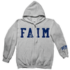 "Faim ""Logo"" Grey Zip-Up Sweatshirt"