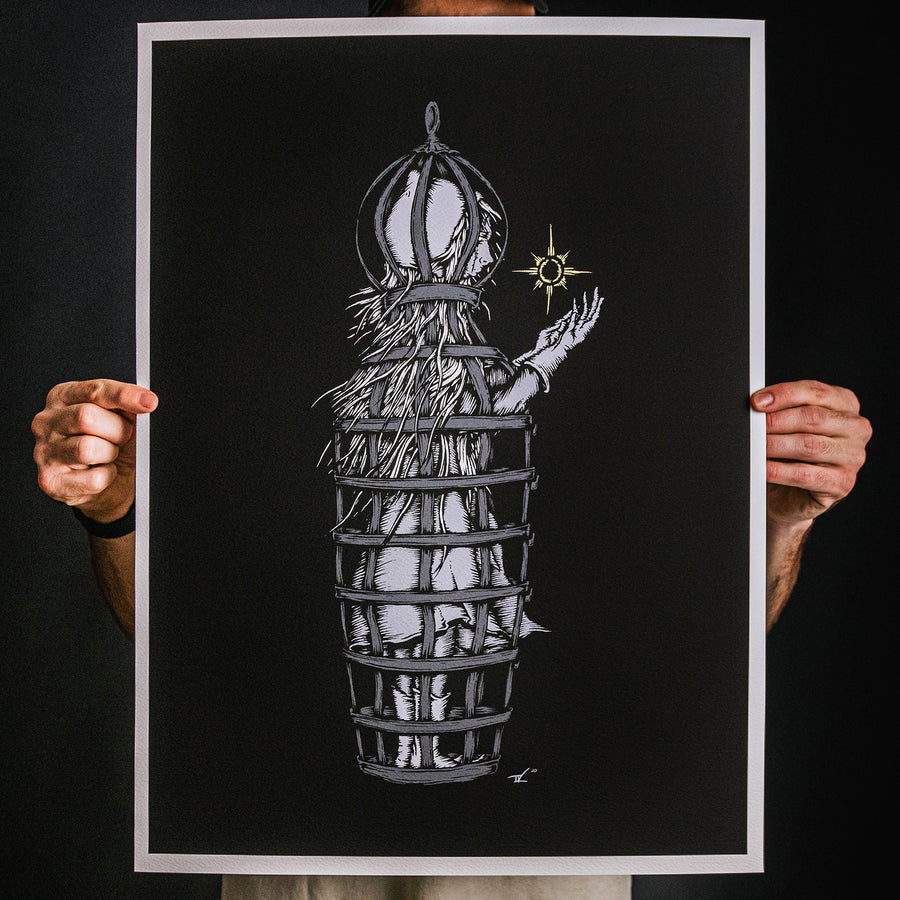 "Andrew Gomez IV ""Flying Cage"" Giclee Print"