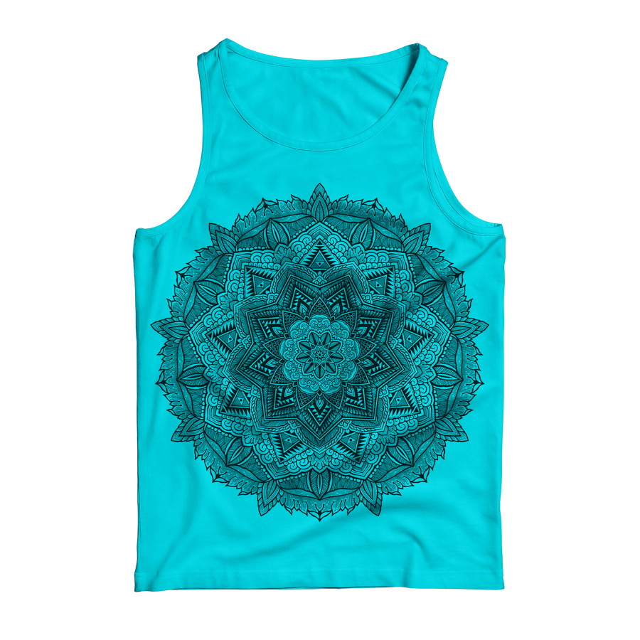 "Thomas Hooper ""Incandescent Blue Mandala"" Blue Tank Top"