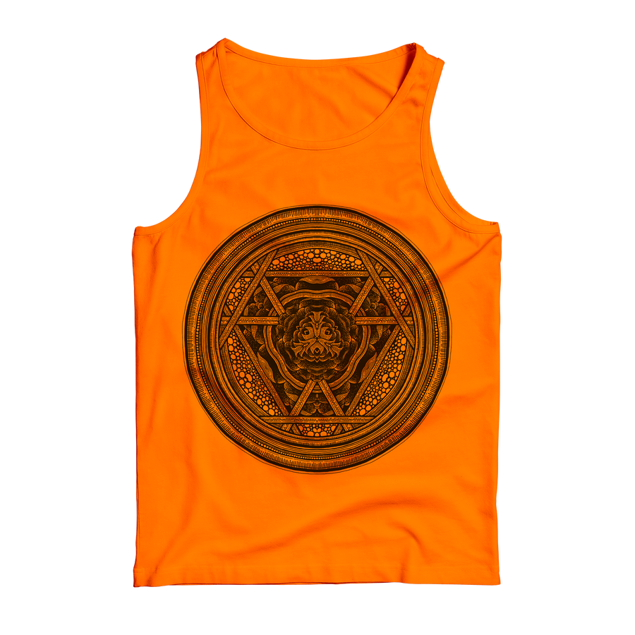 "Thomas Hooper ""Incandescent Orange Rose"" Orange Tank Top"