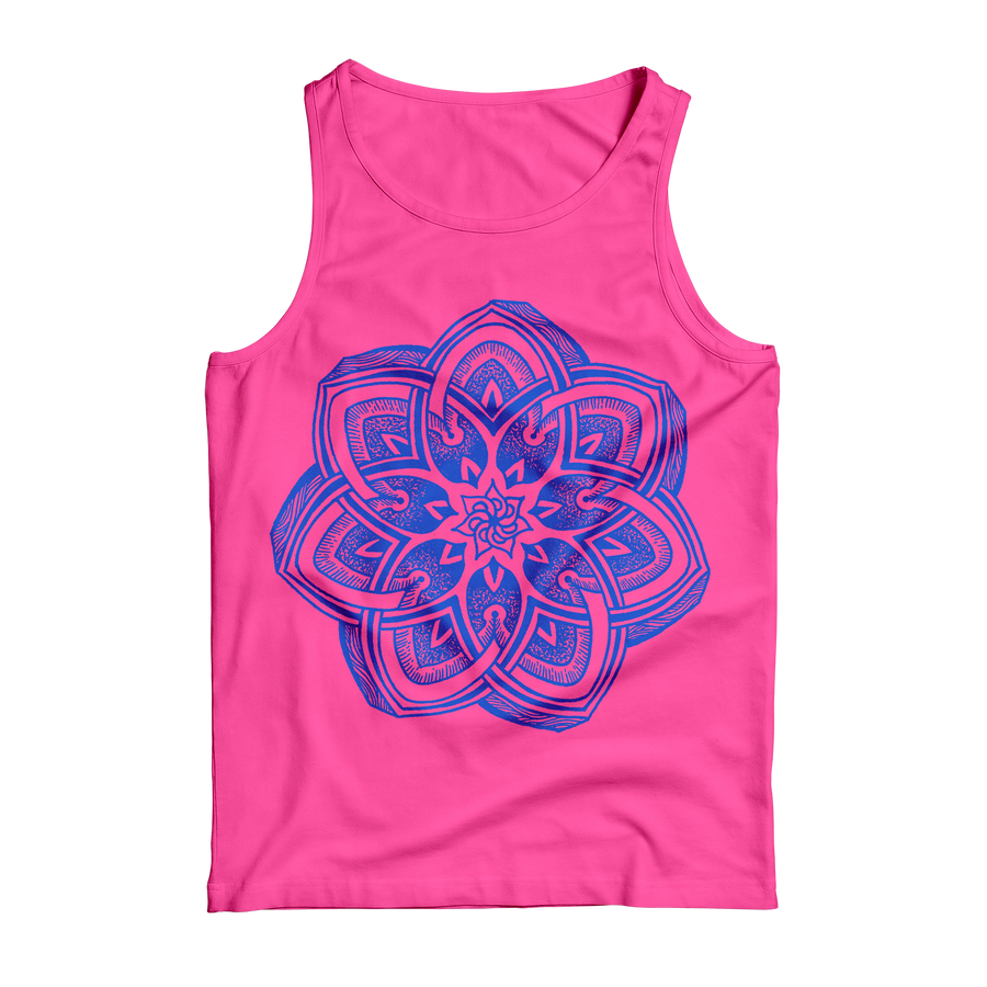 "Thomas Hooper ""Incandescent Spiraling"" Pink Tank Top"