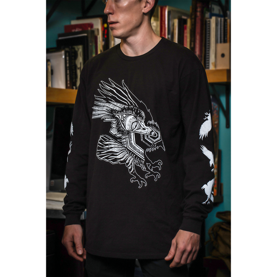 "Thomas Hooper ""Flight and Vision"" Black Longsleeve"