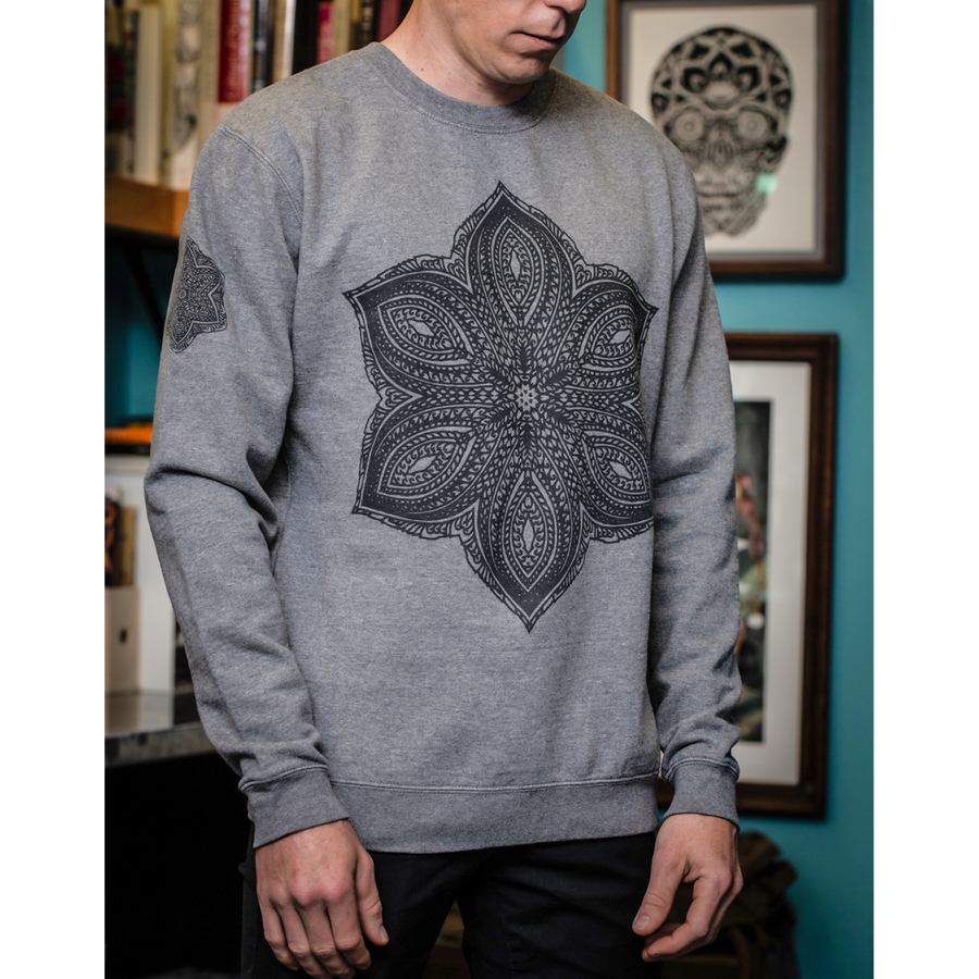 "Thomas Hooper ""Triumphant Gravity"" Grey Crew Neck Sweatshirt"