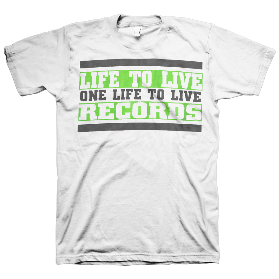 "Life To Live ""Chain Of Strength Rip"" White T-Shirt"