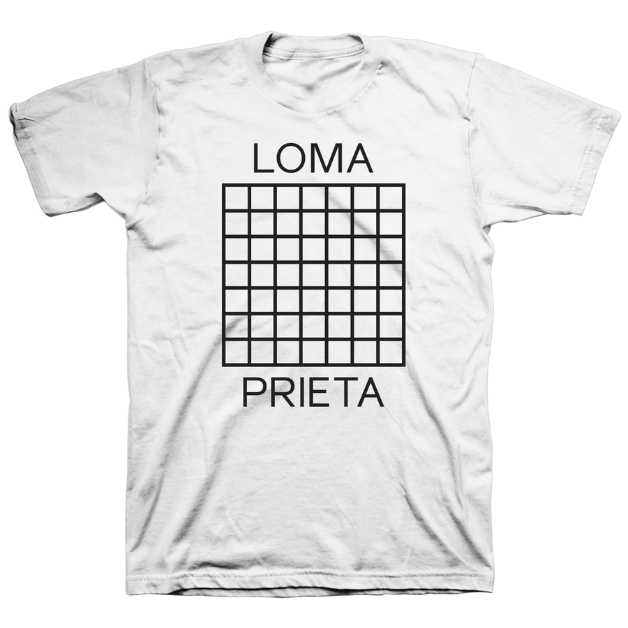 "Loma Prieta ""Grid"" White T-Shirt"