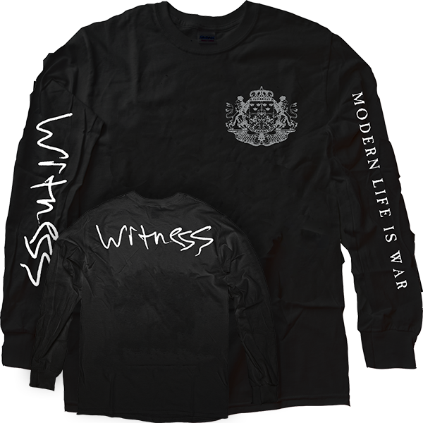 "Modern Life Is War ""Crest"" Black Longsleeve"