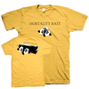 "Mortality Rate ""Wooden Box"" Yellow T-Shirt"