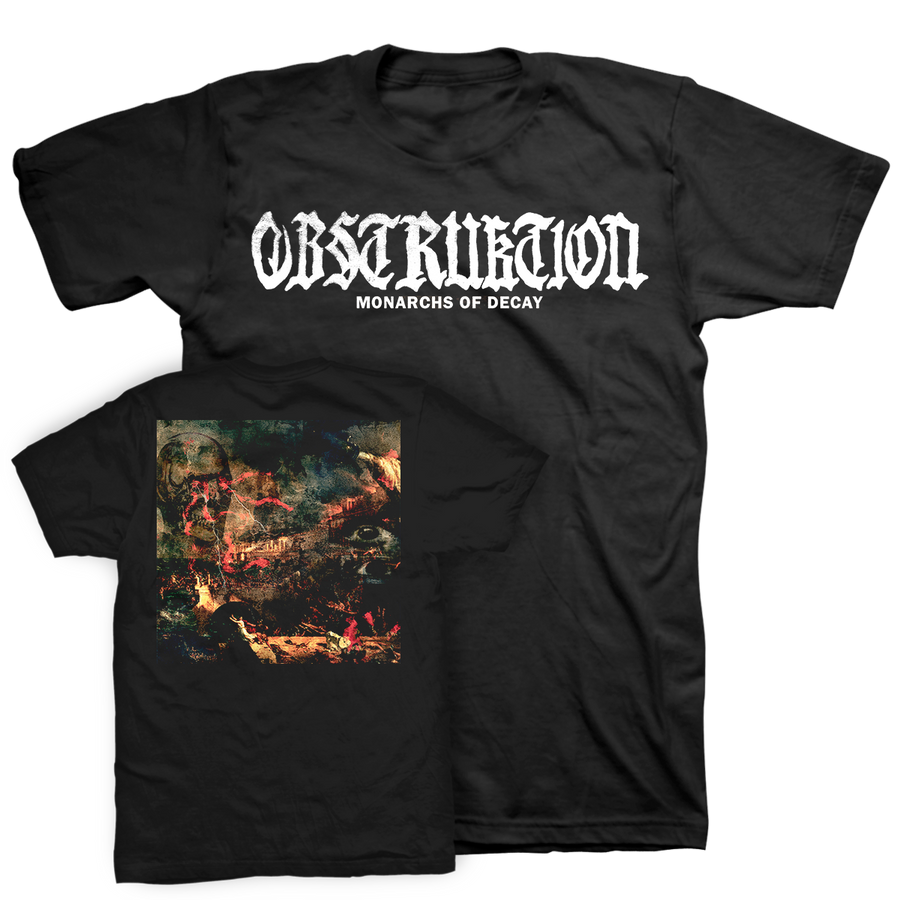 "Obstruktion ""Monarchs Of Decay"" Black T-Shirt"