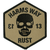 "Harm's Way ""13 - Negative"" Embroidered Patch"
