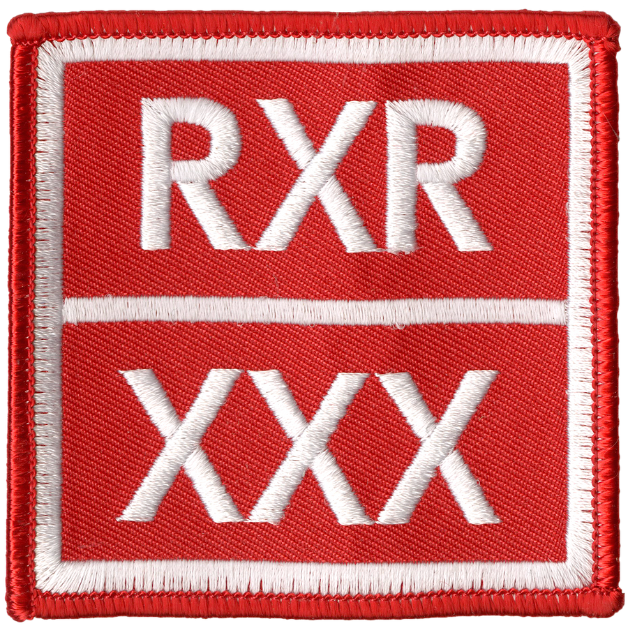 "React Records ""XXX Logo"" Embroidered Patch"