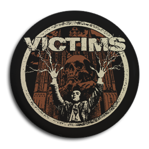 "Victims ""Electric Funeral"" Button"