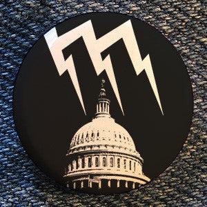 "Malfunction Records ""Logo Black"" Button"