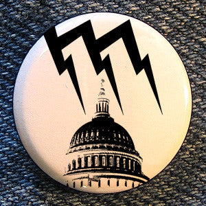 "Malfunction Records ""Logo White"" Button"
