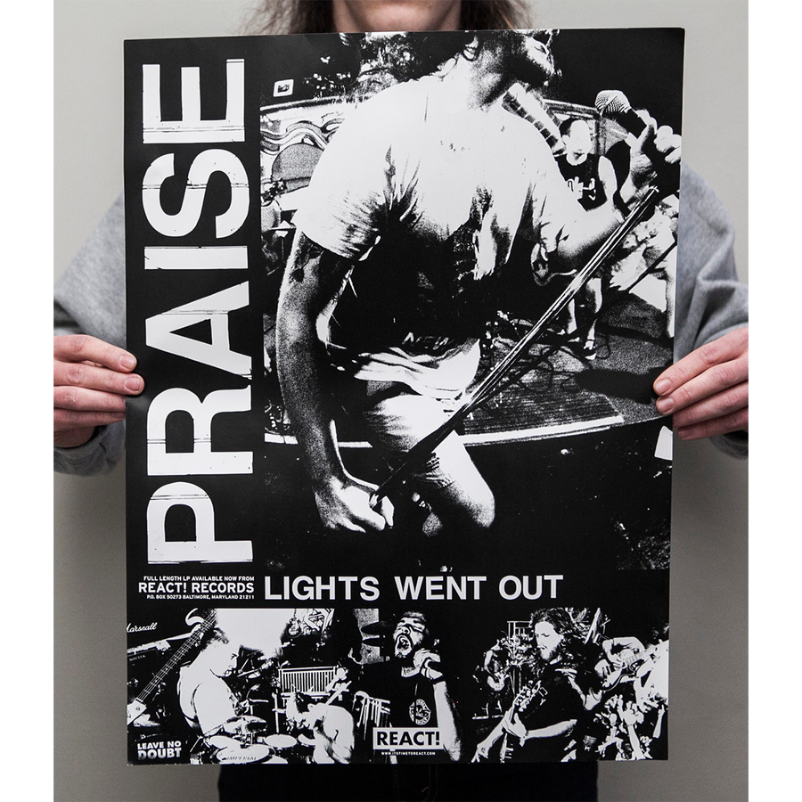 "Praise ""Lights Went Out"" Poster"