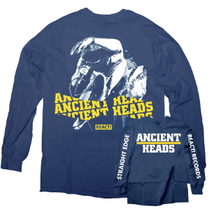 "Ancient Heads ""Straight Edge"" Blue Longsleeve"