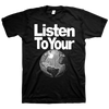 "Sabertooth Zombie ""Listen To Your World"" Black T-Shirt"