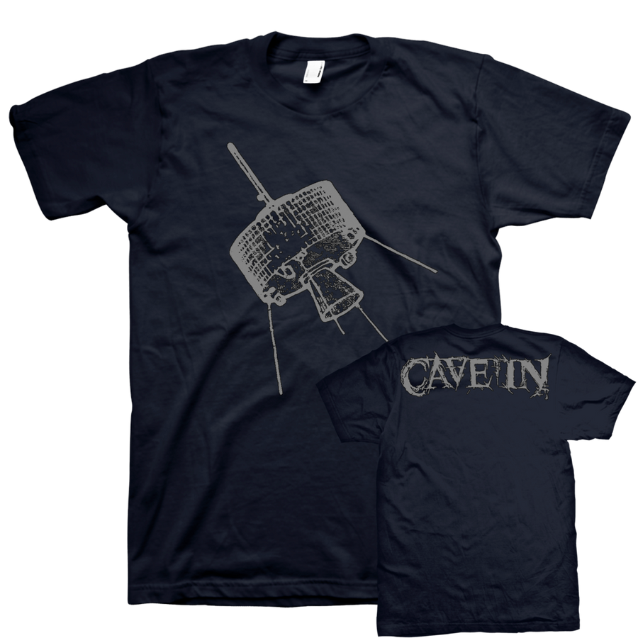 "Cave In ""Satellite"" Navy Blue T-Shirt"