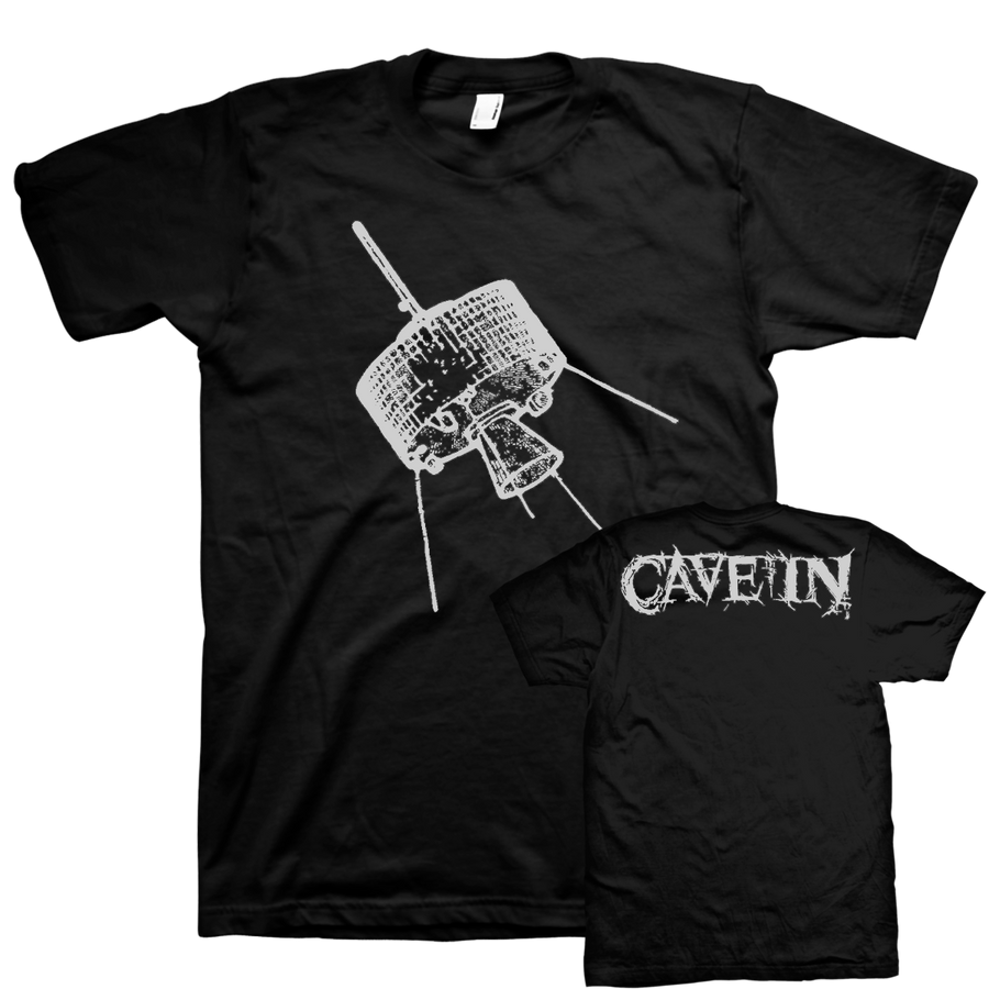 "Cave In ""White Satellite"" Black T-Shirt"