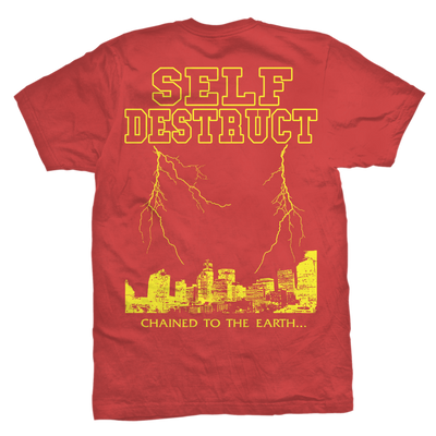 "Self Destruct ""Chained Red T-Shirt"