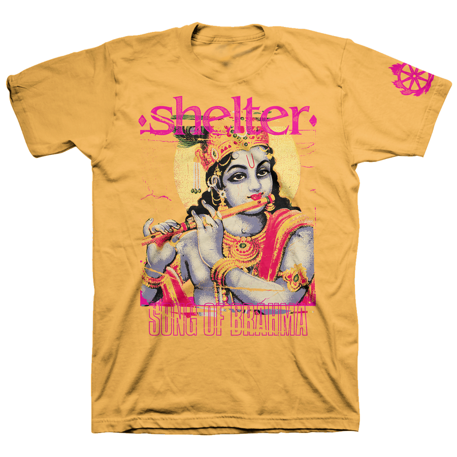 "Shelter ""Song Of Brahma"" Gold T-Shirt"